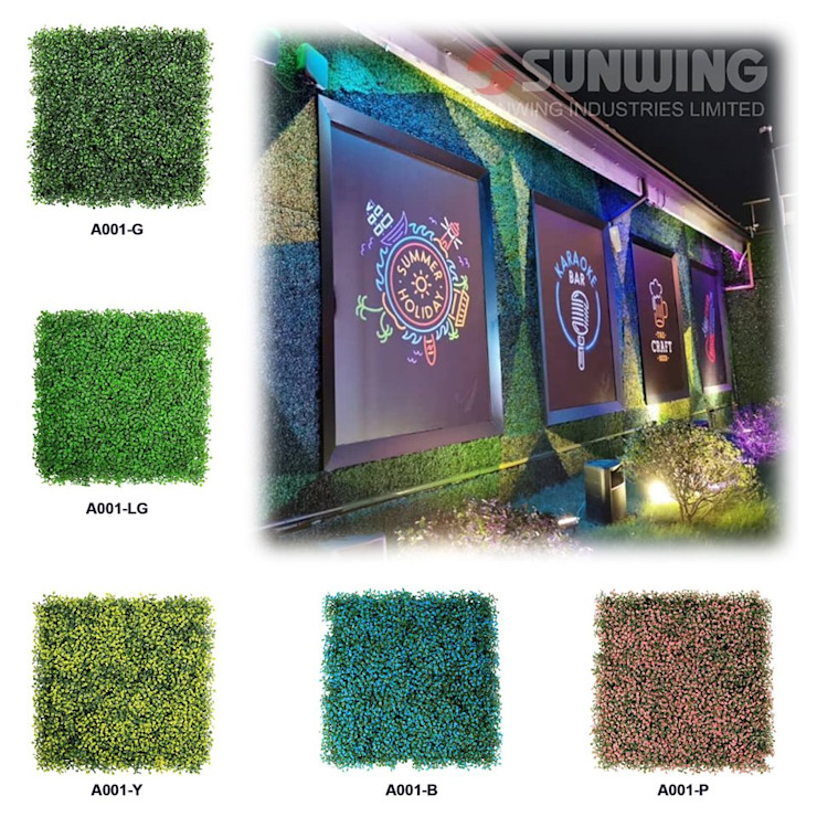 Artificial Hedges for Outdoor Green Wall by Sunwing Industries Ltd Tropical Plastic