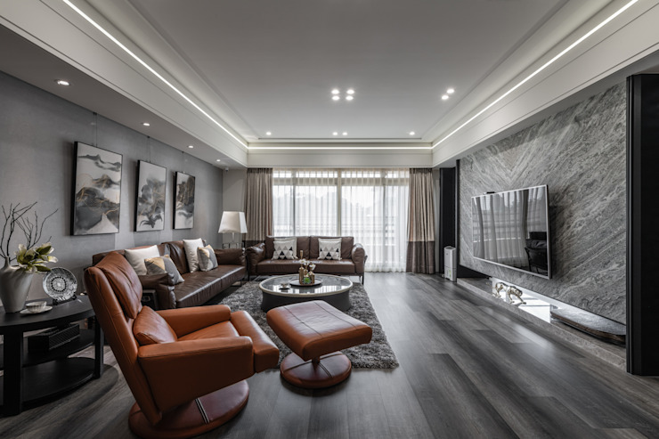 你你空間設計 Salones de estilo moderno