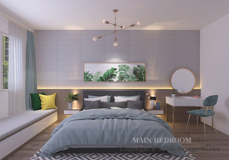 Master bedroom by Swish Design Works Modern Plywood