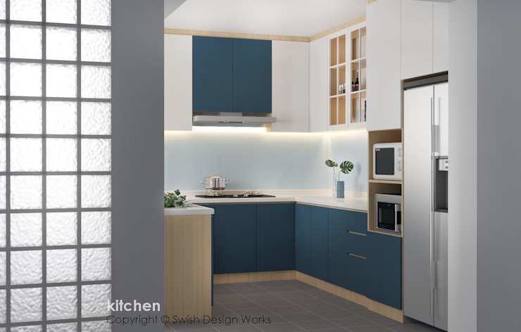 Kitchen Modern kitchen by Swish Design Works Modern Plywood