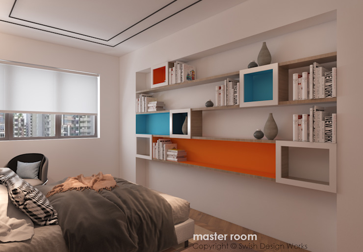 Bedroom display shelves by Swish Design Works Modern Plywood