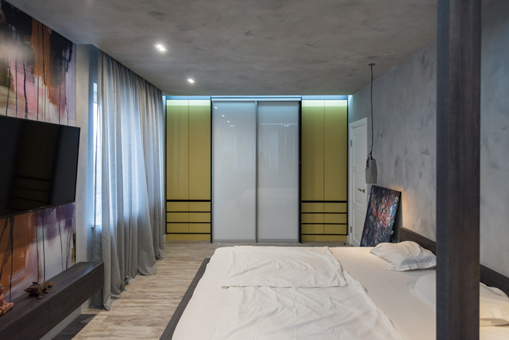 YOUR PROJECT Industrial style bedroom Green
