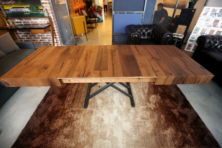 SPACE SAVING FURNITURE (COFFEE + DINING TABLE) by eL precio Rustic
