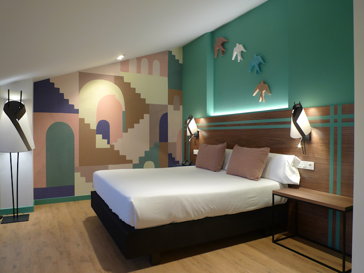 Hoteles Maite Santaclara Interiorista Cuartos de estilo moderno