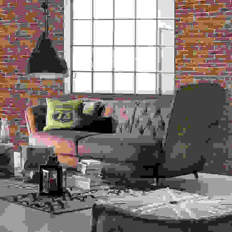 Divano New York Cogal Home Soggiorno in stile industriale Marrone