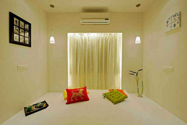 Interior Designer Pune Olive Interiors Small bedroom Bricks Yellow