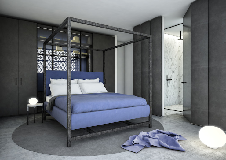 Minimalist bedroom by Aeon Studio Minimalist Marble