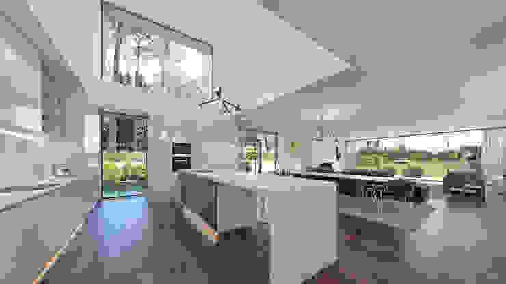 Traçado Regulador. Lda Built-in kitchens Wood White