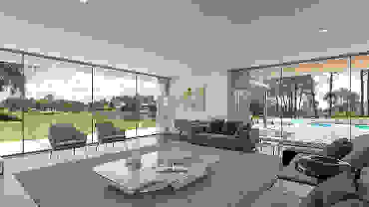 Traçado Regulador. Lda Living room Wood White