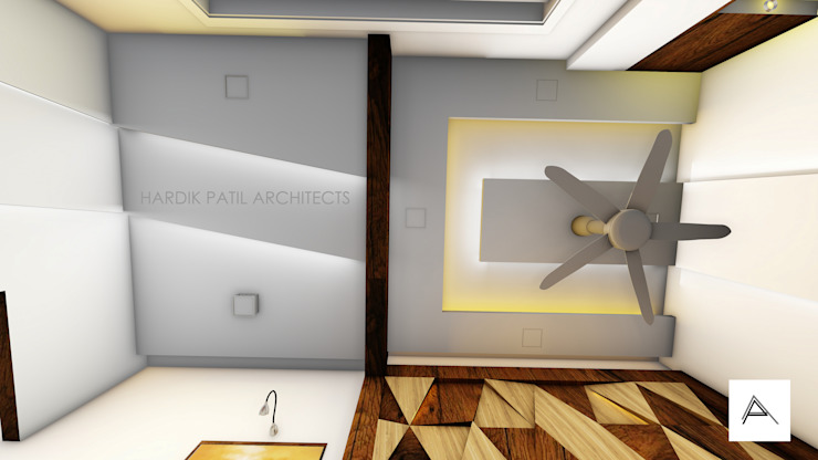 FALSE CEILING Modern offices & stores by HARDIK PATIL ARCHITECTS Modern