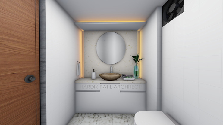 TOILET Modern offices & stores by HARDIK PATIL ARCHITECTS Modern