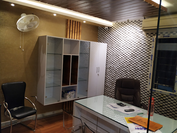 Salon Interior work, complete project design and execution by Sharma Interiors