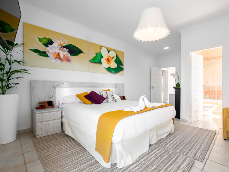 habitación Jazmín DC PROJECTS Diseño de interior Málaga Hoteles de estilo moderno