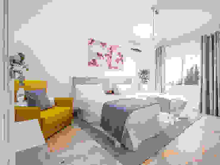 habitación doble DC PROJECTS Diseño de interior Málaga Hoteles de estilo moderno