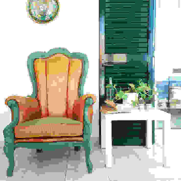 Revì Art - Upcycling Furniture Design Living roomSofas & armchairs Kayu Green