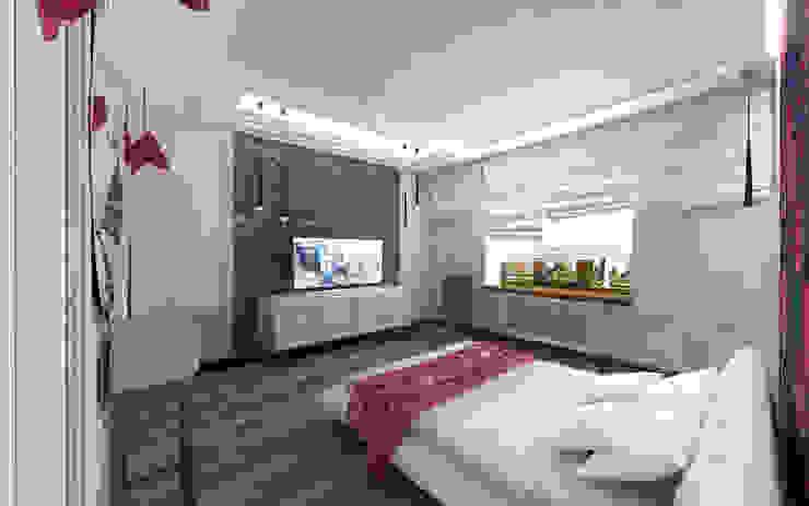 STUDIO DESIGN КРАСНЫЙ НОСОРОГ Industrial style bedroom Brown