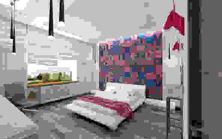 Industrial style bedroom by STUDIO DESIGN КРАСНЫЙ НОСОРОГ Industrial