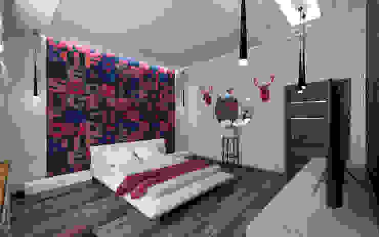 STUDIO DESIGN КРАСНЫЙ НОСОРОГ Industrial style bedroom Blue