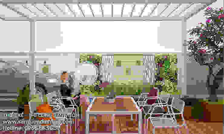 Kolam Renang Modern Oleh Sân Vườn Đỉnh Việt Modern