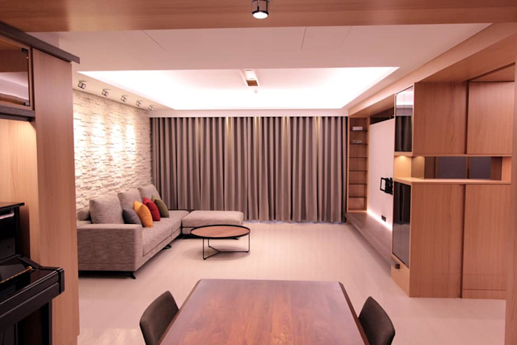 新莊住宅案 根據 青塘設計顧問公司 隨意取材風