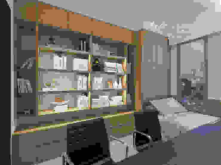 書房 根據 木博士團隊/動念室內設計制作 現代風