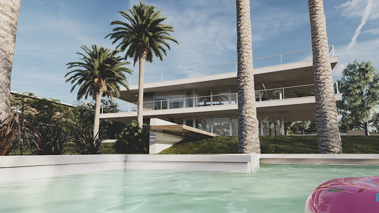 Casa RP – RESIDENCIA SUBURBANA Casas modernas: Ideas, imágenes y decoración de D'ODORICO arquitectura Moderno
