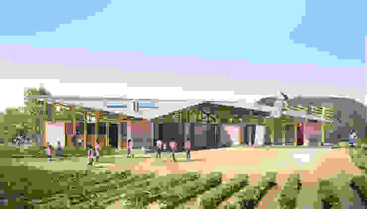 ESCUELA RURAL EN HAITI de UN estudio CO / Arquitectura Rural Madera maciza Multicolor