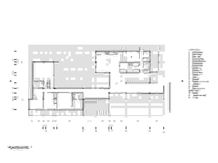 Planta Casa las 5 niñas de Hamaca Arquitectura SpA Industrial