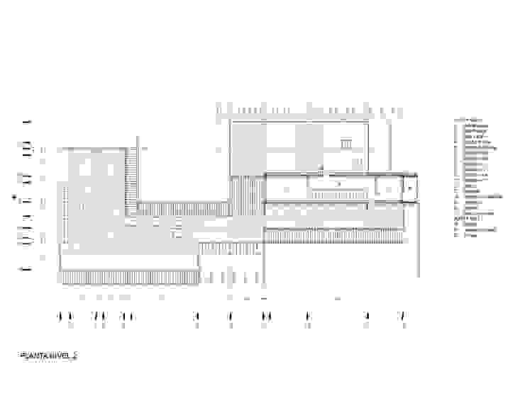 Planta Techo Casa las 5 niñas Casas de estilo industrial de Hamaca Arquitectura SpA Industrial