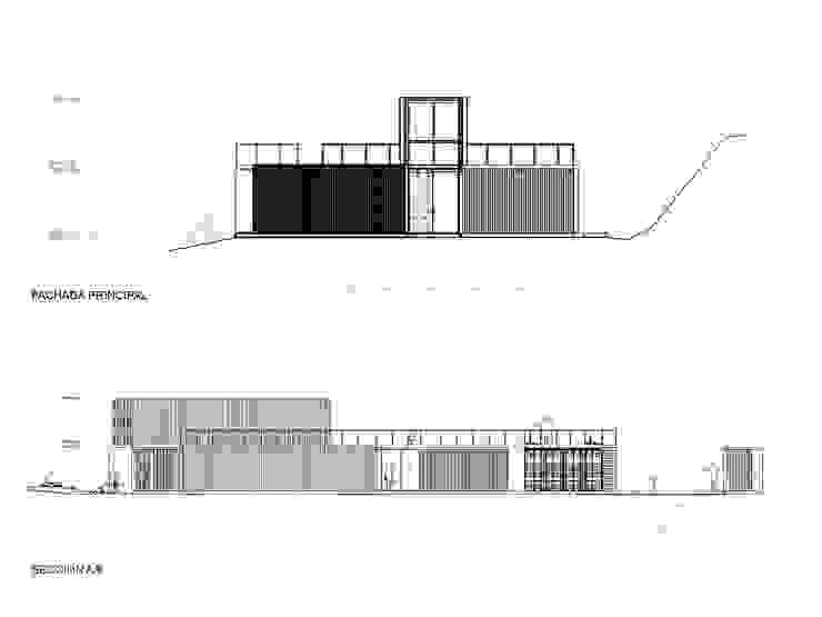 Fachadas Casa las 5 Niñas Casas de estilo industrial de Hamaca Arquitectura SpA Industrial