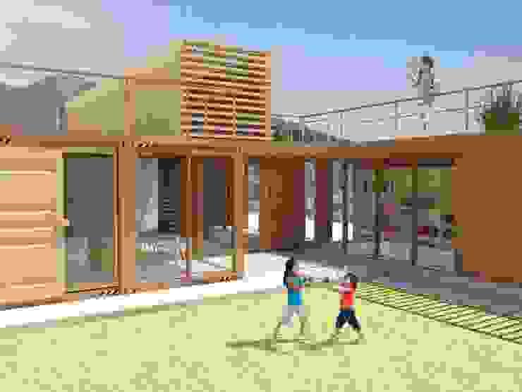CASA LAS 5 NIÑAS Jardines de estilo industrial de Hamaca Arquitectura SpA Industrial