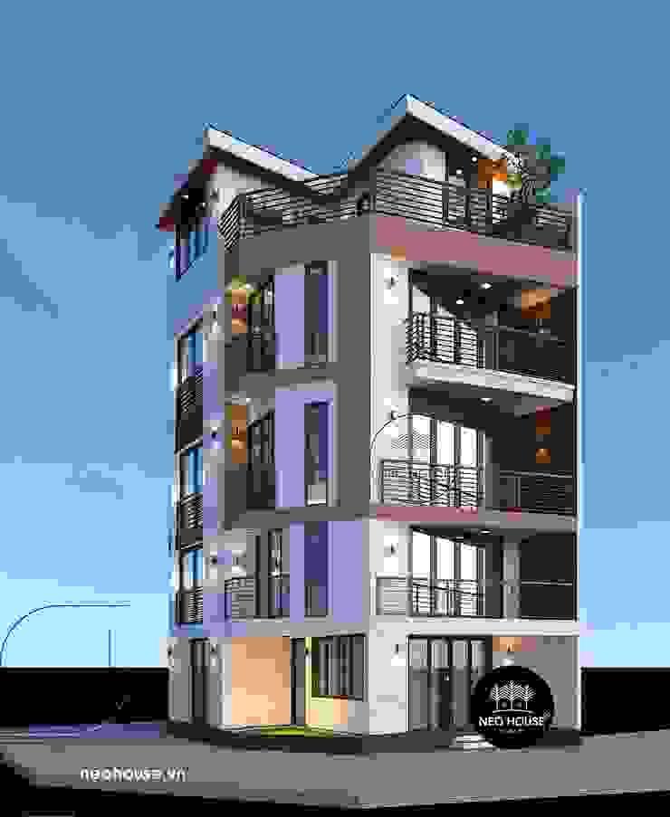 Mẫu thiết kế nhà ở kết hợp văn phòng kinh doanh tại Tp. Hồ Chí Minh bởi NEOHouse