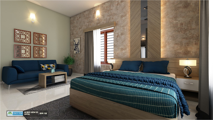 Flawless Contemporary Bedroom Designs... Classic style bedroom by Monnaie Interiors Pvt Ltd Classic