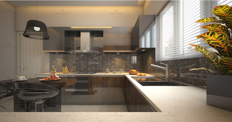 Kitchen designs that never go out of style... Asian style kitchen by Monnaie Interiors Pvt Ltd Asian