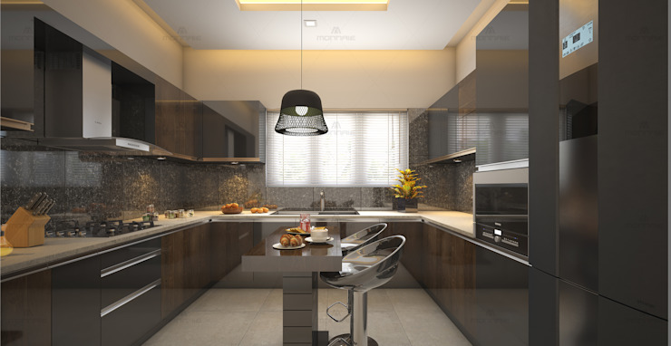 Kitchen designs that never go out of style... Modern kitchen by Monnaie Interiors Pvt Ltd Modern