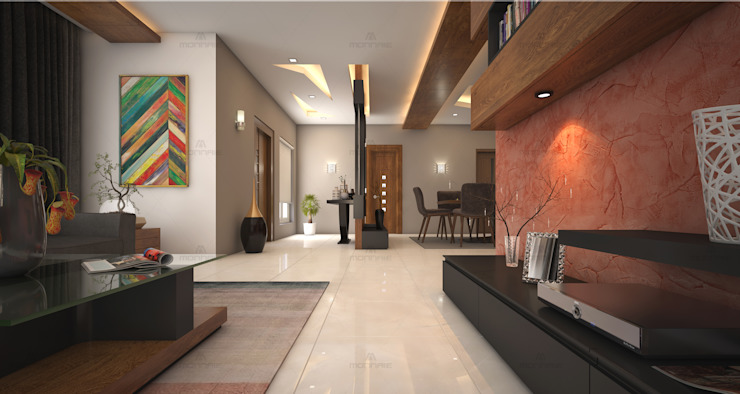 Stunning common area designs for your dream home... Modern living room by Monnaie Interiors Pvt Ltd Modern