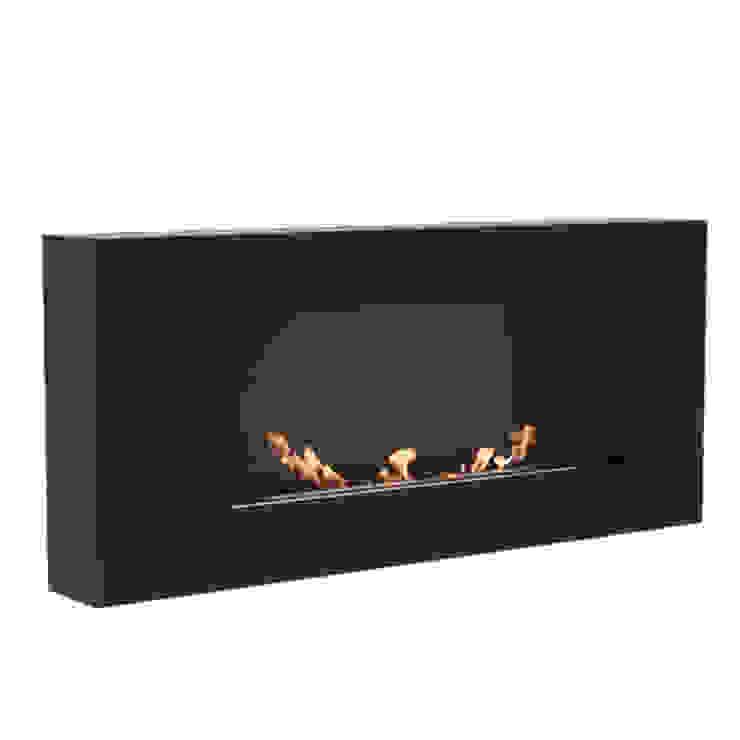 Delta Flat Modern living room by Caldo Fires Modern