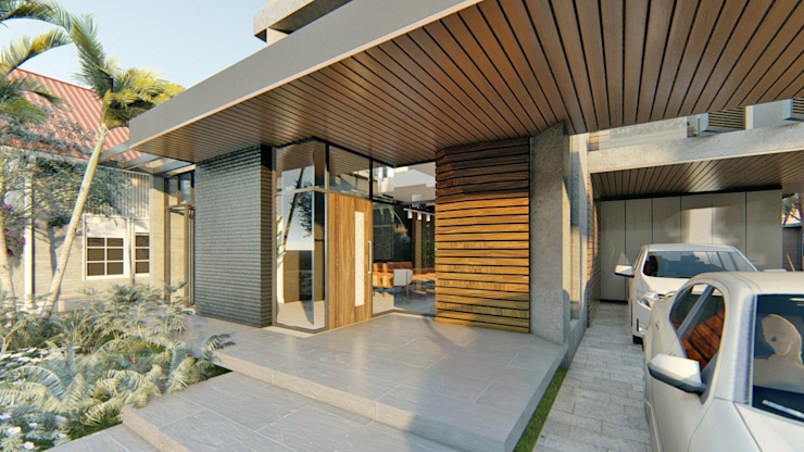 Main Door by Structura Architects Modern Wood Wood effect