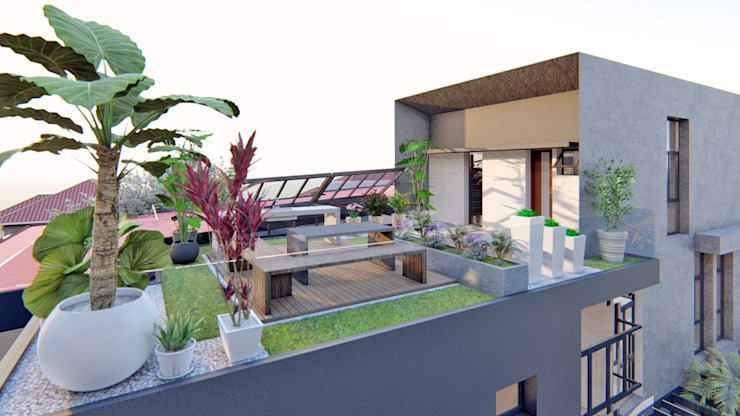 Roof Garden by Structura Architects Modern Wood Wood effect