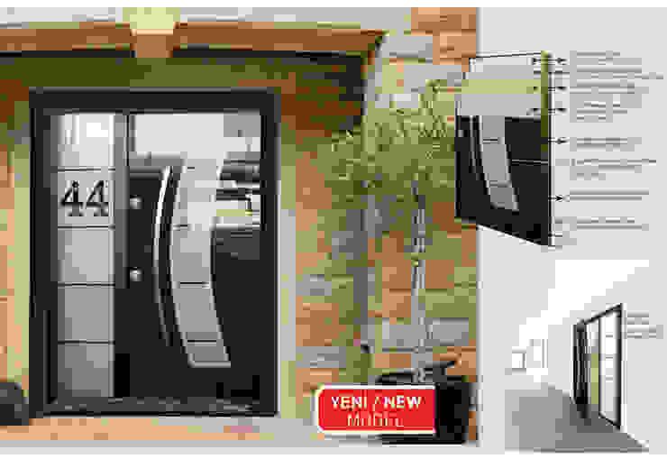 DELUX GLASS SERİSİ* Çalık Konsept Mimarlık Pencere & KapılarKapılar Siyah