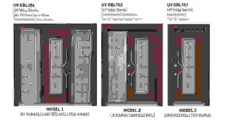 UV VİLLA SERİSİ* Çalık Konsept Mimarlık Pencere & KapılarKapılar Ahşap rengi