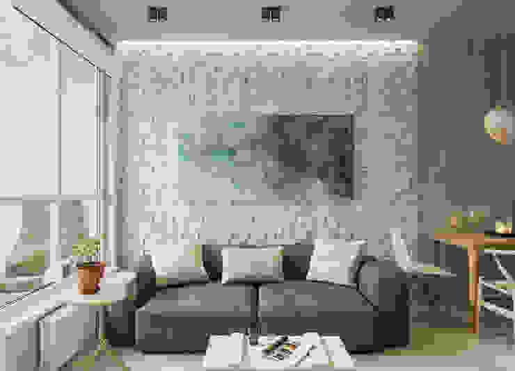 One-room apartment Гостиная в стиле модерн от AEgroup Модерн