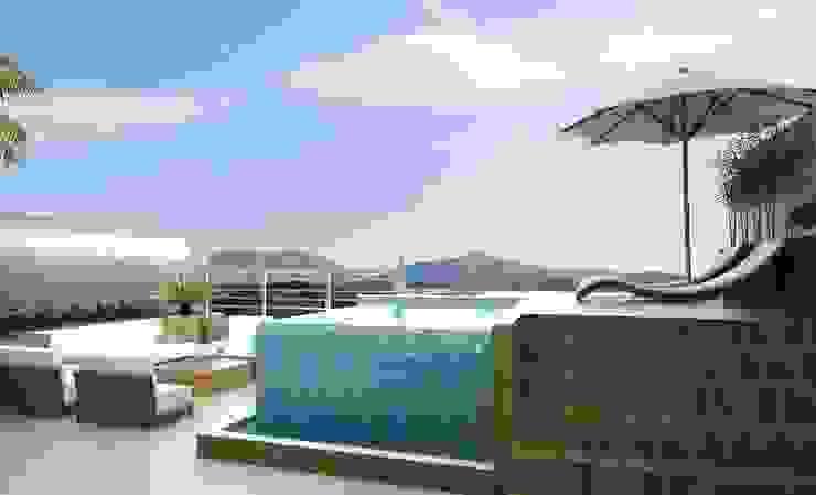 Modern style balcony, porch & terrace by MJR Arquitetura e Engenharia Modern