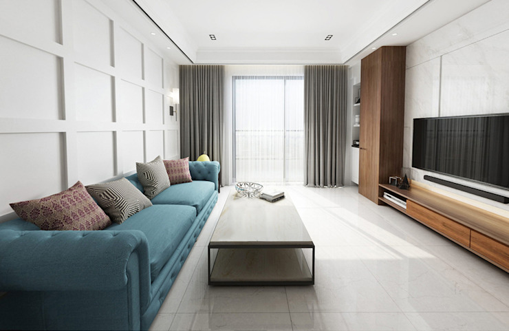 整體設計上朝向自然舒適的簡約氛圍呈現 根據 雅和室內設計 北歐風