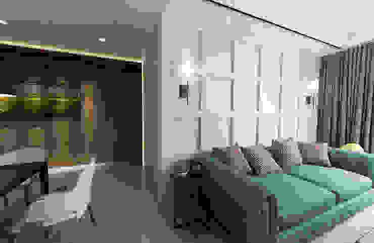 客餐廳呈現開放式空間,整體設計上朝向自然舒適的簡約氛圍呈現 根據 雅和室內設計 北歐風