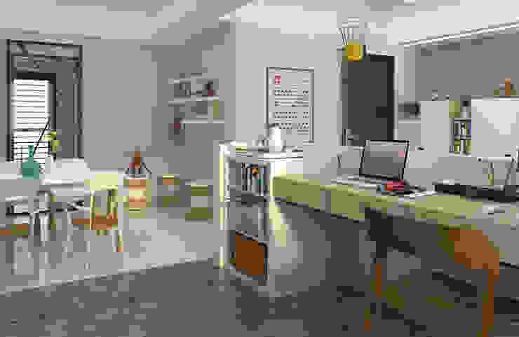 滿足生活與工作 根據 雅和室內設計 北歐風