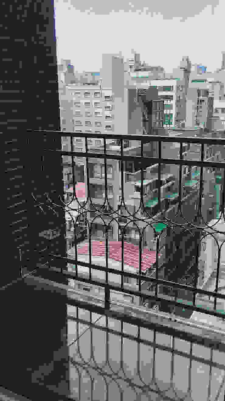 台北市新生北路陽台外推增設欄杆.推窗改通風門 根據 正邦建材實業有限公司 簡約風