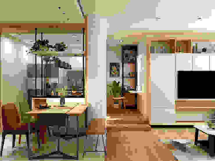 Minimalist dining room by Coohom Minimalist