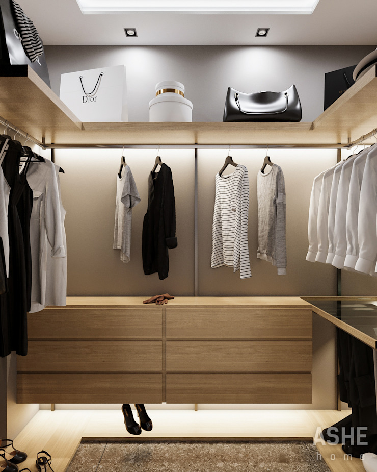 Eklektik Giyinme Odası Студия авторского дизайна ASHE Home Eklektik