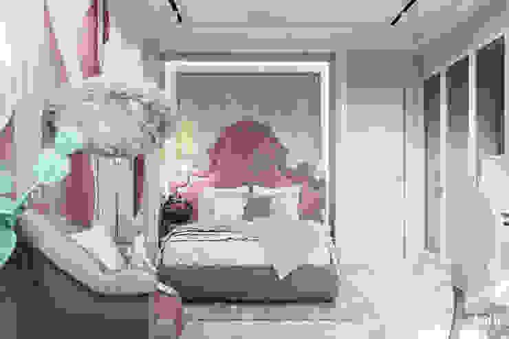 Квартира в ЖК Дом у озера Спальня в эклектичном стиле от Студия авторского дизайна ASHE Home Эклектичный